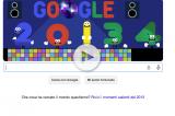 Il doodle di San Silvestro 2013. Buon anno nuovo da Google