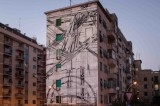 Il maxi murales di Sten & Lex, la Garbatella come New York