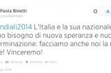 Italia-Uruguay: arriva la gufata della Binetti