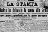 Centenario dello scoppio della Grande Guerra: l'Italia ricorda