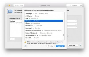 Napoletano e siciliano diventano lingue ufficiali con Apple
