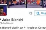 Jules Bianchi: su twitter annunciano la sua falsa morte