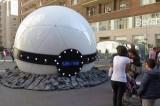 La sfera gigante con timer a Milano, Roma e Napoli? E' Interstellar