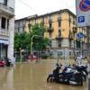 Milano, auto multate dai vigili. In divieto di sosta per alluvione