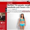 La Barbie con le misure normali è cessa? La gaffe di Giornalettismo