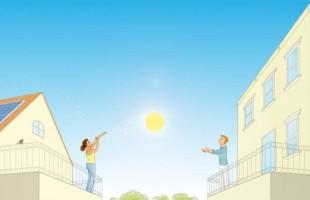 Il futuro è la condivisione dell'energia solare da casa a casa