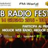 Web Radio Festival 2015: diretta video streaming e premiazione