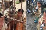 Cina, bambini in gabbia coi cani. Le foto shock
