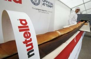 Dolci record: baguette dell'Expo alla Nutella, la più lunga al mondo