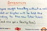 Spoiler su Star Wars a chi non paga il biglietto in metropolitana