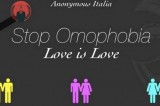 Anonymous oscura il sito del Family Day: Stop Omophobia. Love is Love
