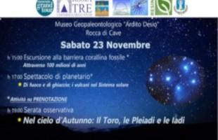 A Rocca di Cave (RM) il 23 novembre una giornata dedicata al planetario e non solo