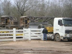 Bulldozer in azione
