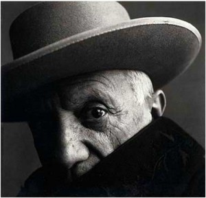 Pablo Picasso in La Californie, Cannes 1957 - Irving Penn