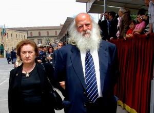 Vincenzo Agostino con sua moglie