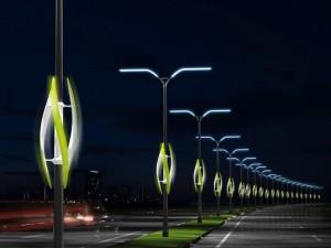 Illuminazione ad energia eolica