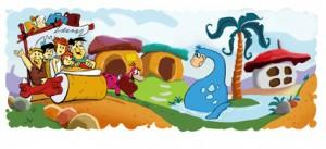 Il logo di Google per i cinquant'anni dei Flinstones