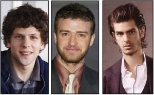 Jesse Eisenberg, Justin Timberlake e Andrew Garfield