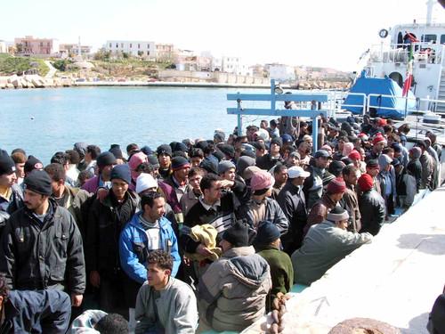Immigrati a Lampedusa
