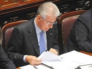 Il presidente del Consiglio Mario Monti