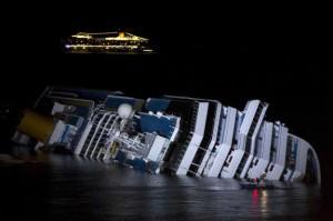 Il relitto del Costa Concordia