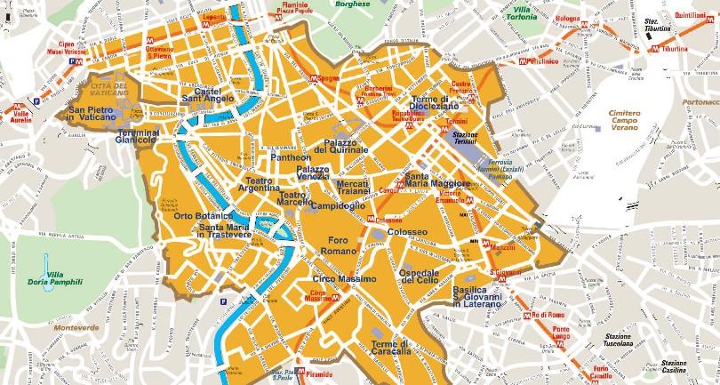 Cartina Roma Centro Monumenti.Centro Storico Di Roma Mappa Del Junglekey It Immagini