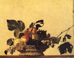 Una natura morta del Caravaggio