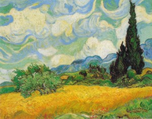Un paesaggio del maestro Van Gogh