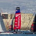 Luna Rossa, Team New Zealand e Oracle nello splendido scenario del Golfo di napoli (quotidiano.net)