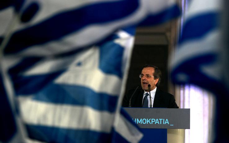 Antonis Samaras: nell'ultimo mese del suo governo è tornata la paura (getty)