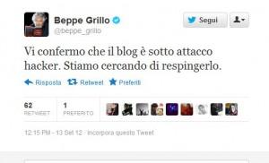 grillo twitter blog hacker