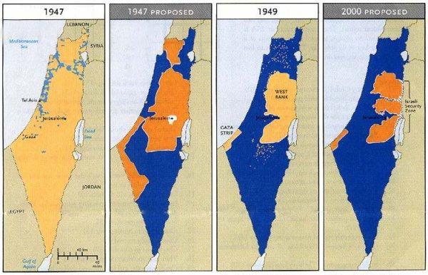 Israele Palestina Cartina.Presente Passato E Futuro Del Conflitto Israelo Palestinese Wakeupnews