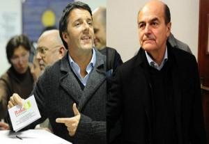 Bersani e Renzi, protagonisti del ballottaggio per le primarie del centrosinistra