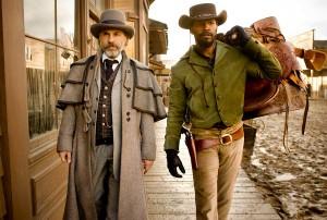 Christoph Waltz e Jamie Foxx in 'Django Unchained' di Quentin Tarantino