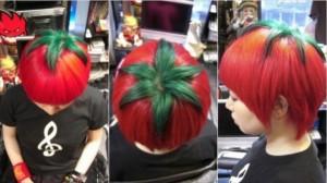 capelli a pomodoro