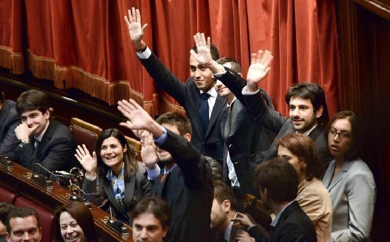 m5s i grillini in parlamento siederanno nel settore del