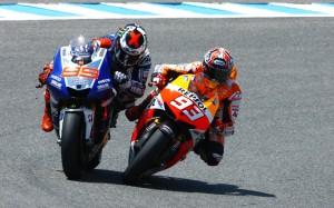 Marquez Lorenzo spallata MotoGP