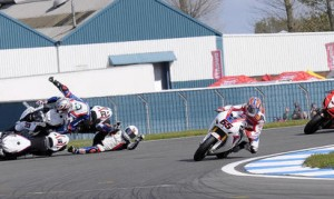Superbike Donington incidente