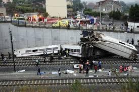 Il treno spagnolo ad alta velocità deragliato ieri (www.internazionale.it)