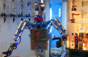 robot, bar