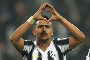 Arturo Vidal, Juventus - Copenaghen (foto LaPresse)