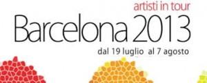 la locandina della mostra Artisti in tour Barcellona 2013 (www.spaghettibcn.com)