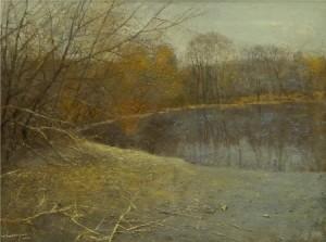 Stagno di un tardo autunno, Zhu Xiaoguo