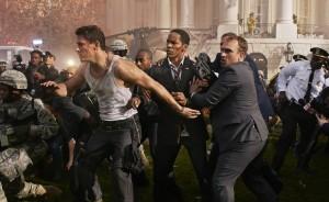 Channing Tatum (John Cale) e Jamie Foxx (il Presidente Sawyer) in una scena del film