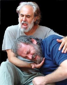 Graziano Piazza e Francesco Biscione durante le prove dello spettacolo