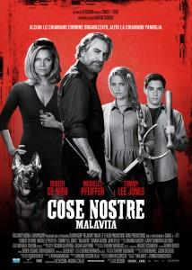 """La locandina del nuovo film di Luc Besson """"Cose nostre"""" (Eagle Pictures)"""