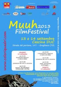 La locandina del Muuh Film Festival (coloriquadri.com)