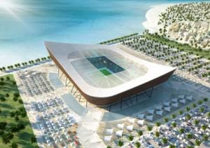 Lo stadio di Al Shamal, uno di quelli previsti per ospitare i match di Qatar 2022