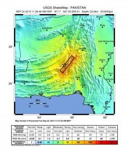 L'intensità del sisma e la zona colpita, in una mappa dello United States Geological Survey