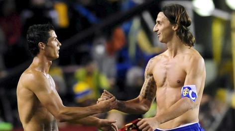 Ibrahimovic e Ronaldo: sfida a eliminazione tra le loro nazionali